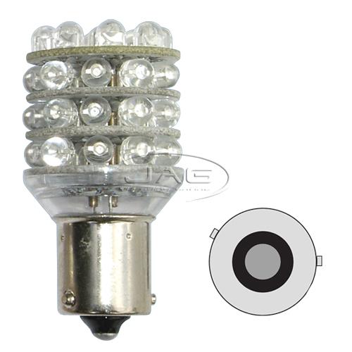 12V 36-LED T25 BAU15S 5009 Amber Globe