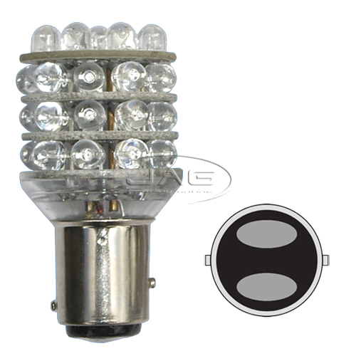 12V 36-LED T25 BAY15D 1157 Red Globe