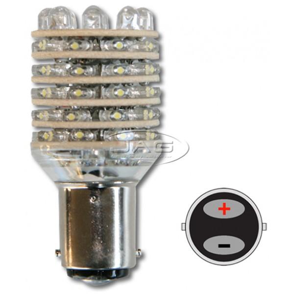 12V 54-LED BA15D White Globe
