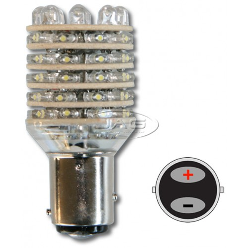 12V 54-LED BAY15D Single-Stage White Globe