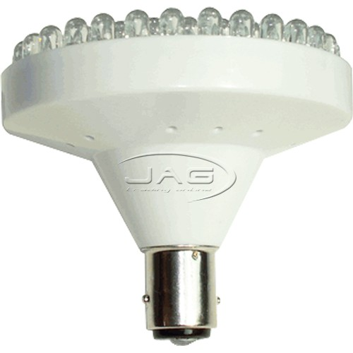 12V 82-LED MLT BA15S White Globe