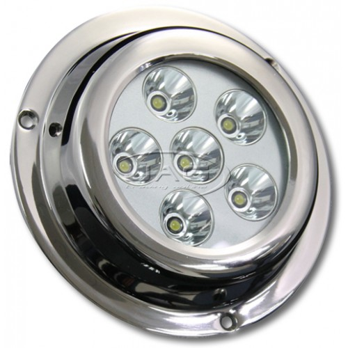 18W LED Stainless Steel Underwater Squid Light - White