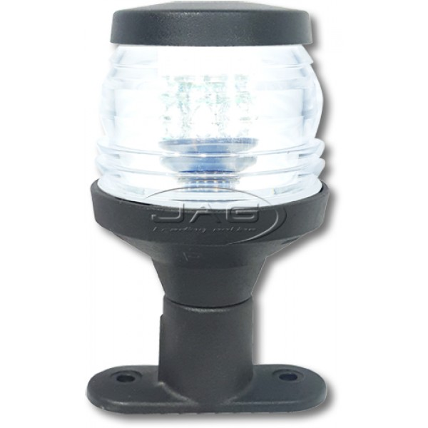 "12V 36-LED 4"" Black Pedestal Anchor Light"