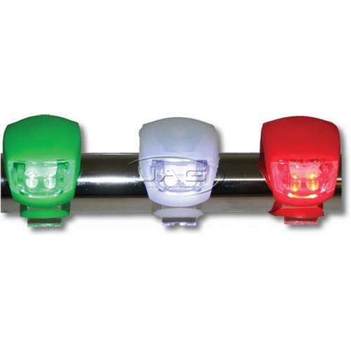 LED Mini Emergency Navigation Light Set - Battery Operated (Set of 3)