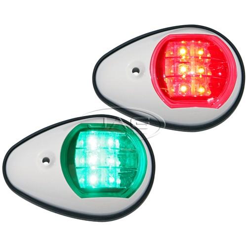 12V Pair LED White Navigation Lights PW