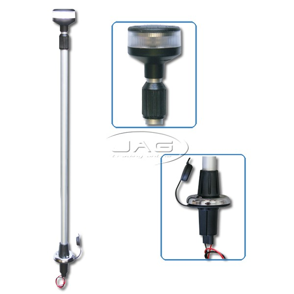 12V LED Telescopic 2-4Ft Plug-in Anchor Light