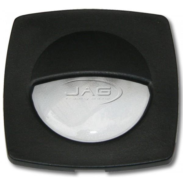12V 3-LED Black Square Courtesy Light