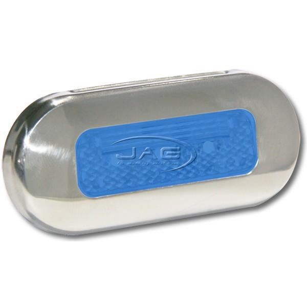 12V Stainless Steel 3-SMD LED Blue Courtesy Light