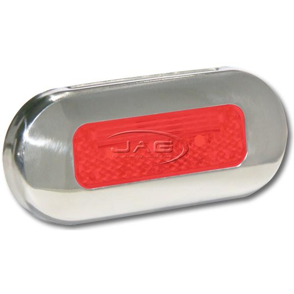 12V Stainless Steel 3-SMD LED Red Courtesy Light