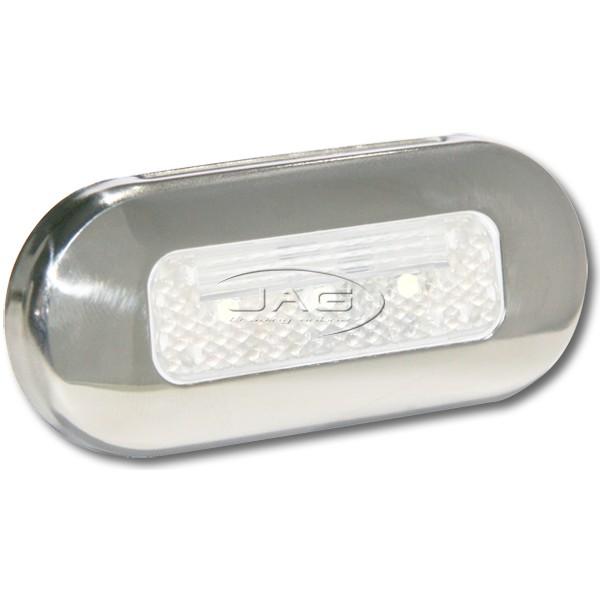 12V Stainless Steel 3-SMD LED White Courtesy Light
