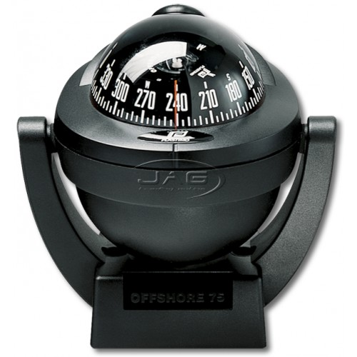 Plastimo Offshore 75 Black Bracket Mount Compass
