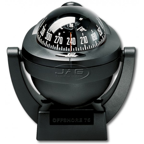 Plastimo Offshore 75 Black Bracket Mount Compass