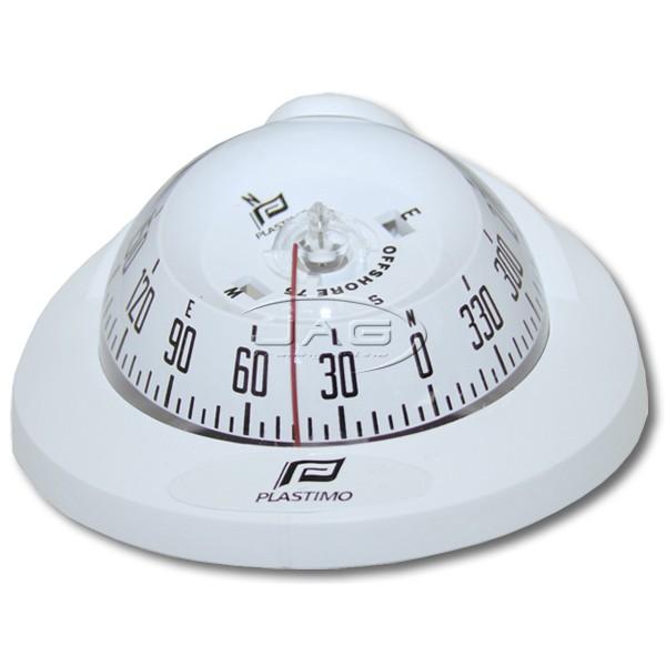 Plastimo Offshore 75 White Flush Mount Compass