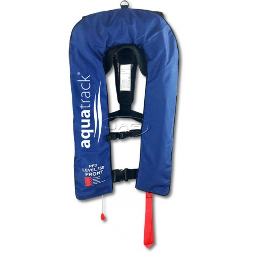 AquaTrack Eco 150N Manual Inflatable PFD - Navy Blue