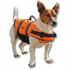 AquaTrack Dog Life Jacket - Pet PFD Orange Safety Vest