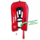 AquaTrack Oceanus 150N Manual & Harness Inflatable PFD - Red