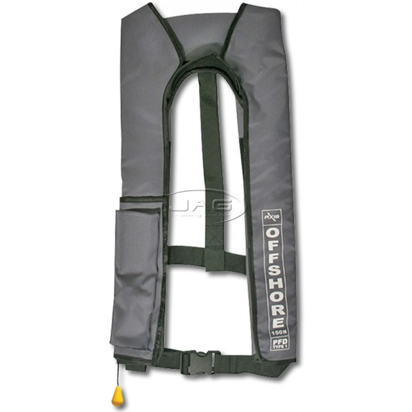 Axis Offshore Grey Inflatable PFD 1 Lifejacket 150N