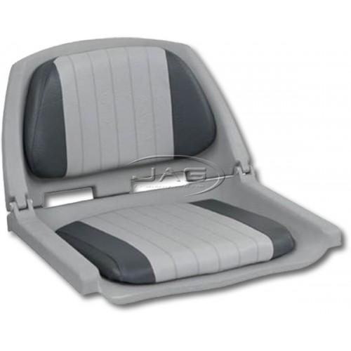 Grey/Charcoal Folding Boat Seat