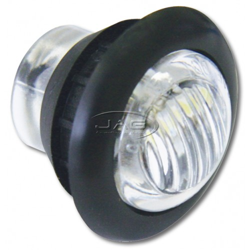 12V 3-SMD LED White Round Marker/Clearance Pilot Light