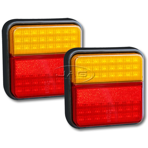 Pair 96-LED Stop/Tail/Indicator Trailer Lights 12V
