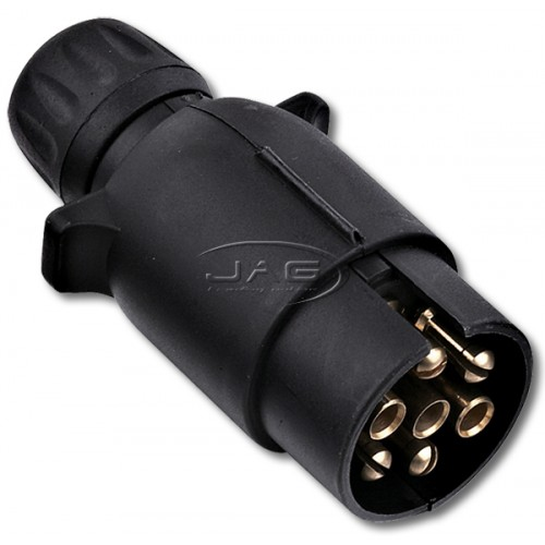 7 Pin Large Round Plastic Trailer Connector Plug