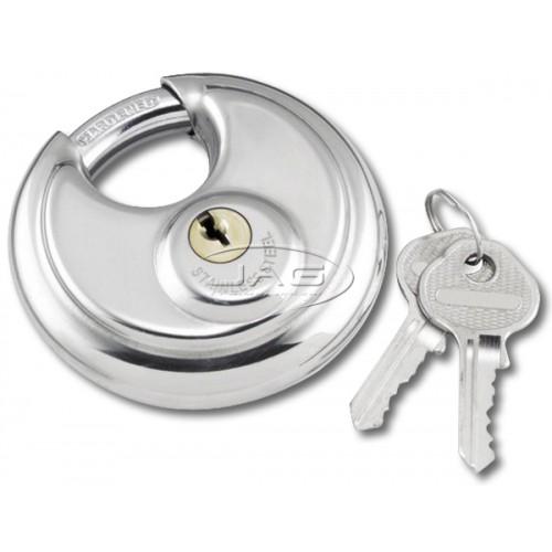 Stainless Steel 70mm Round Disc Security Padlock