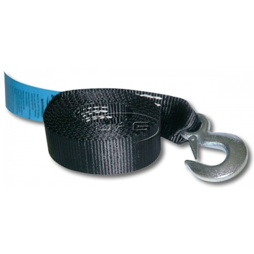 4.5M x 50mm Boat Trailer Winch Webbing Strap & Snap Hook