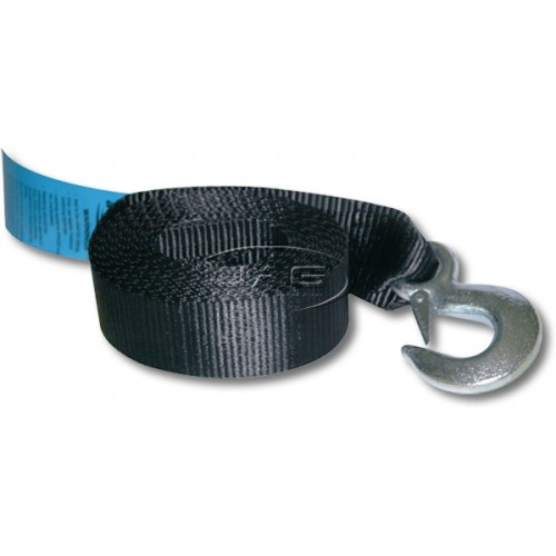 6M x 50mm Boat Trailer Winch Webbing Strap & Snap Hook